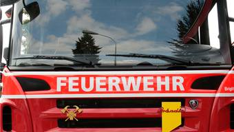 Die Feuerwehr Oberwynental war am Sonntag in Burg im Einsatz.