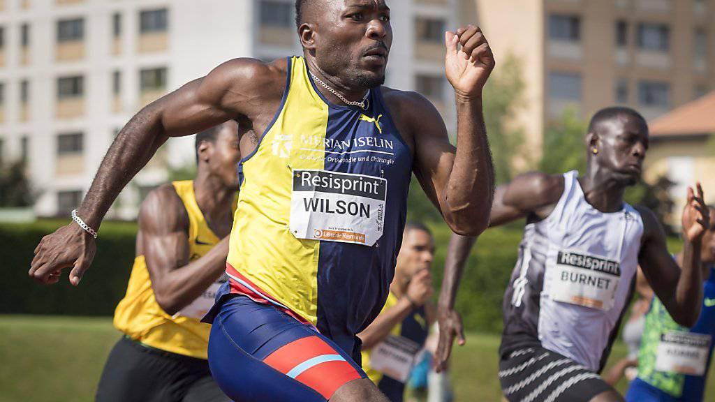 Alex Wilson strebt am Dienstagabend bei Spitzenleichtathletik Luzern den Sieg über 200 m an