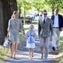 Schwedens Kronprinzessin Victoria und Prinz Daniel begleiten ihre Tochter Estelle in die Privatschule Campus Manilla: Prinzessin Estelle feiert ihren ersten Schultag.