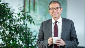 Urs Hofmann in seinem Büro als Regierungsrat, das er nach zwölf Jahren hinter sich lässt. (14.12.2018)
