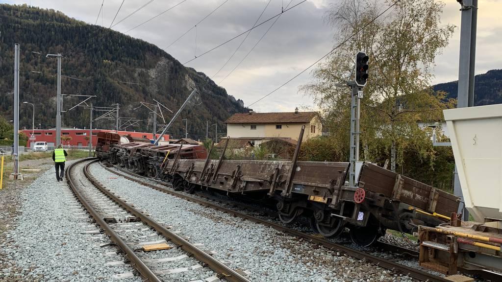 Entgleisung Güterwagen bei Bonaduz