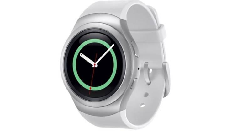 Die schlaue Uhr des koreanischen Herstellers gibt es in einem modernen Design (Bild) und als Gear S2 Classic in einer edlen Version mit Lederarmband. Verfügbarkeit und Preis sind noch nicht bekannt.
