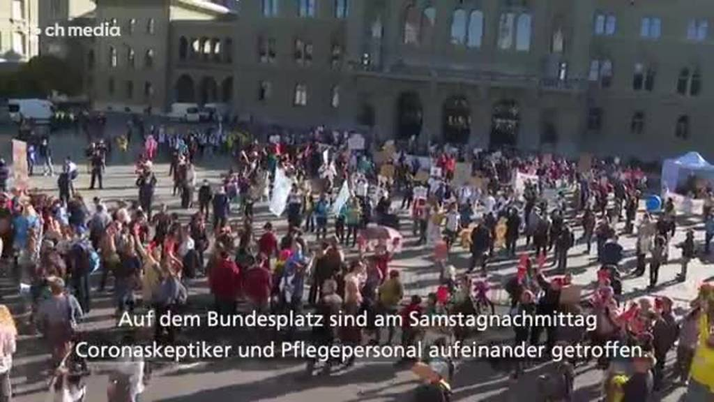 Gesundheitspersonal braucht Polizeischutz für Demo in Bern
