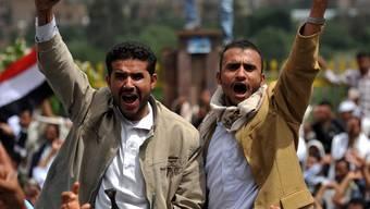 Protestierende in der jemenitischen Stadt Sanaa