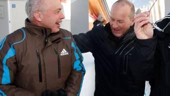 Christian Meili (r.) mit BR Maurer nach Bobfahrt in St. Moritz