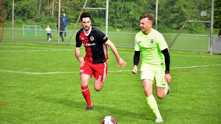Alessandro Renna (links) wollte mit dem FC Klingnau in der Rückrunde den Ligaerhalt anstreben.