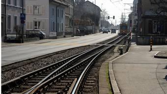 Der Doppelspurausbau der Tramlinie beim Spiesshöfli in Binningen ist eines der Projekte der zweiten Generation des Agglomerationsprogramms. Martin Töngi