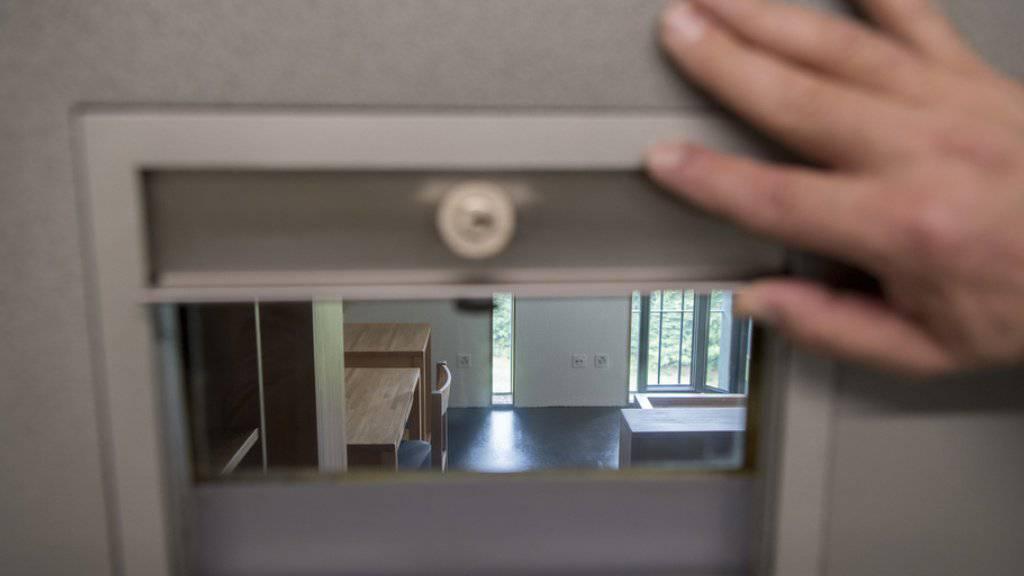 Blick in eine Zelle der bernischen Strafanstalt Thorberg.