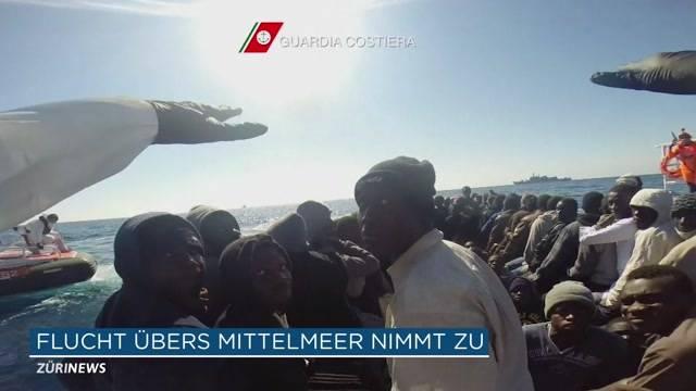 Flüchtlingsstrom über Mittelmeer