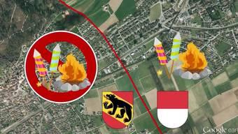 Die Kantonsgrenze zwischen Lengnau und Grenchen störte bisher niemanden. Doch nun ist sie gleichzeitig auch Feuerverbots-Grenze. Während die Solothurner fröhlich ihre Wurst grillen dürfen, können die Berner nur zusehen.