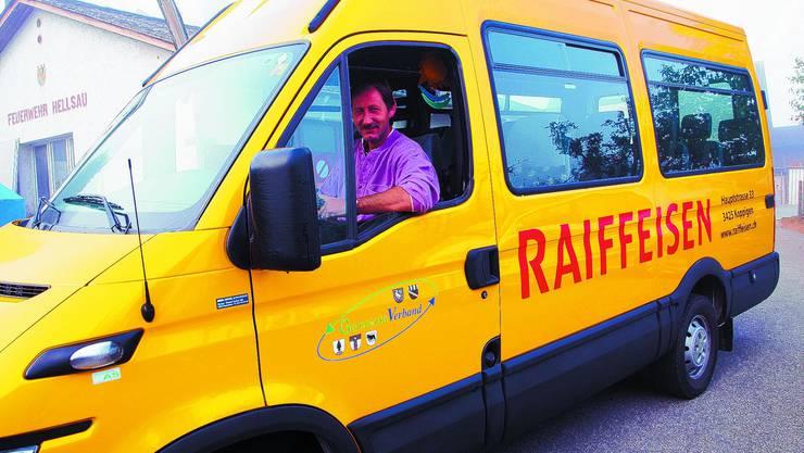 Gut gestartet: Seit gut sieben Wochen kurvt Otto Wälchli mit dem Bürgerbus durch die Gegend. com