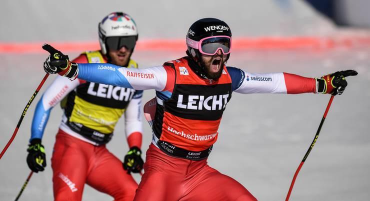 Skicrosser Ryan Regez fährt in Feldenberg überraschend zu seinem ersten Weltcupsieg.