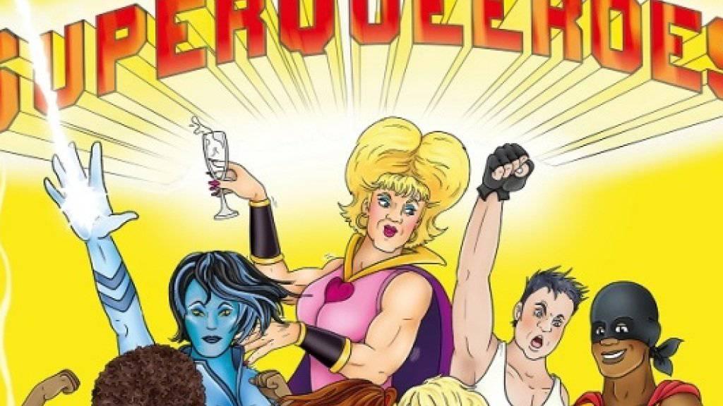 Ausschnitt aus dem Plakat für die Berliner Comic-Ausstellung «Superqueeroes» (z.V.g.)