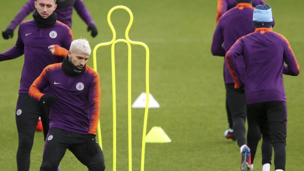 Manchester City bereitet sich auf das Achtelfinal-Hinspiel in Gelsenkirchen gegen Schalke 04 vor