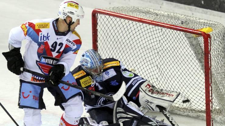 2011: Michael Nylander im Dress der Kloten Flyers.