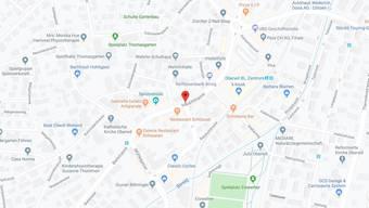 In Oberwil ereignete sich auf der Hauptstrasse eine Streifkollision. (zvg / screenshot google maps)
