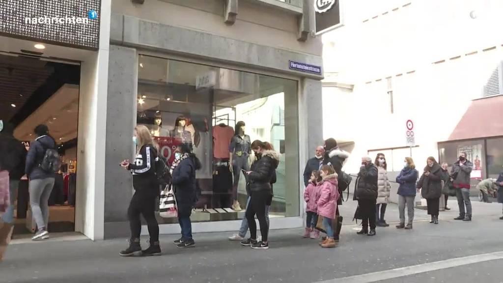 Nach dem Lockdown sind Geschäfte wieder offen