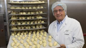 Fredy Hiestand in seiner Spezialitäten-Bäckerei Fredy's in Baden. (Archivbild)