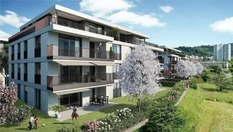 Wie auf dieser Visualisierung werden sich die neuen Mehrfamilienhäuser dereinst präsentieren.