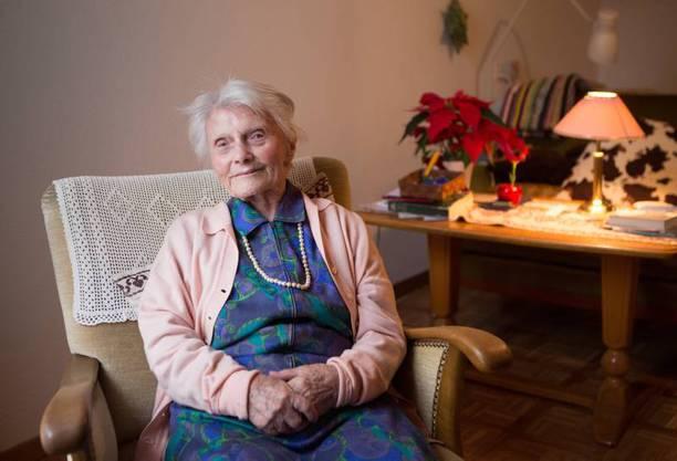 Ihr Alter glaubt Alice Schaufelberger der vielen Arbeit zu verdanken. Archiv