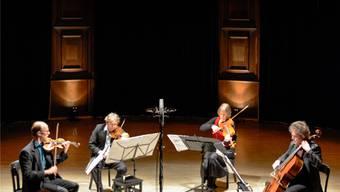 Die Streicher des Kairos Quartetts überzeugen das Publikum.Martin Töngi