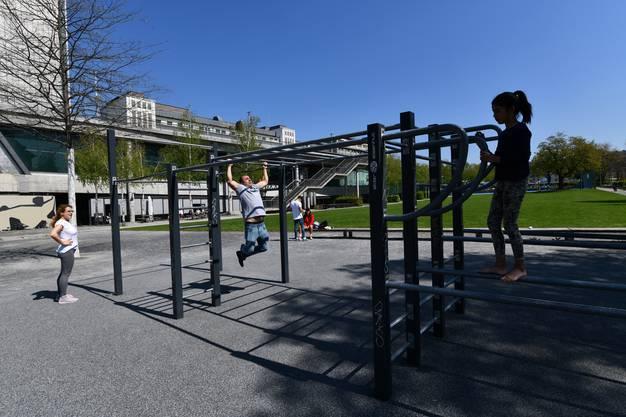 Eine der beliebtesten Stellen für Basler Outdoor-Sportler: Die Fitnessanlage.