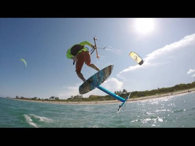 Damien LeRoy beim Kitesurfen
