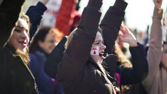 Frauen in den USA demonstrieren für ihre Rechte (Archiv)