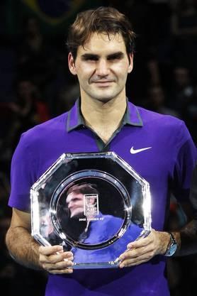 Für Federer gibts nur eine Platte