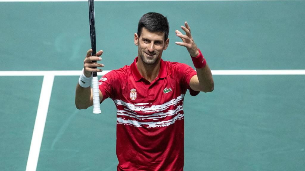 Novak Djokovic mit Serbien im Viertelfinal
