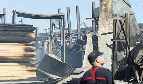Brand in Rimes Sägerei geht vermutlich auf Brandstiftung zurück