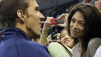 US-Schwimmstar Michael Phelps mit seiner Verlobten Nicole Johnson
