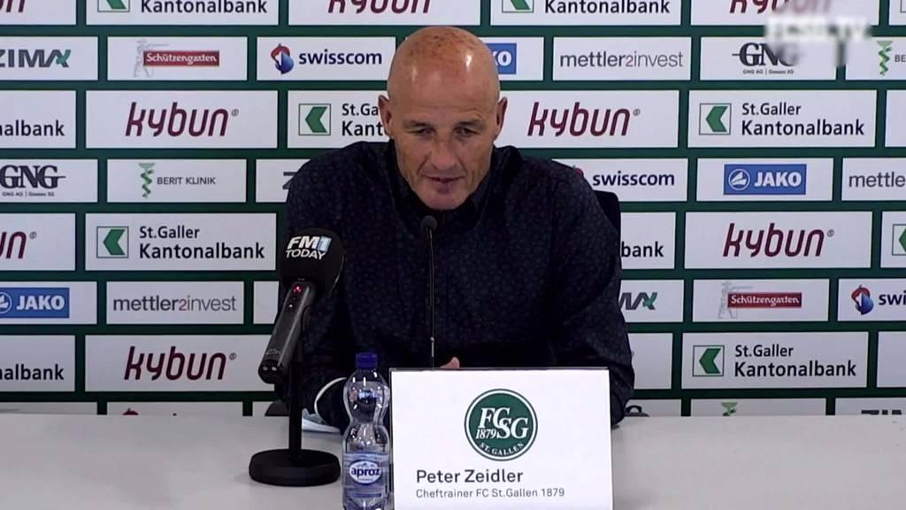 FCZ vs. FCSG: Peter Zeidler zum Spiel gegen den FC Zürich
