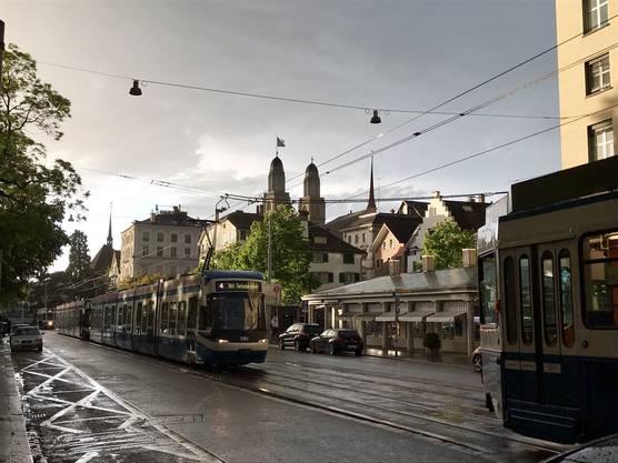 Viele Trams standen still.