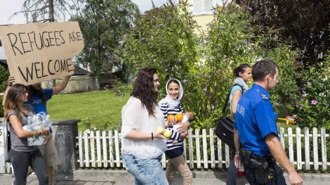 Asylsuchende kommen vor allem mit dem Railjet-Zug von Wien nach Buchs SG. Foto: Keystone