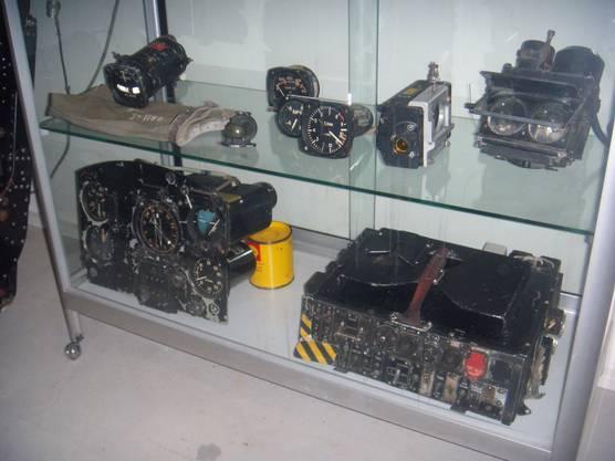 Cockpit-Instrumente und die Bordkamera