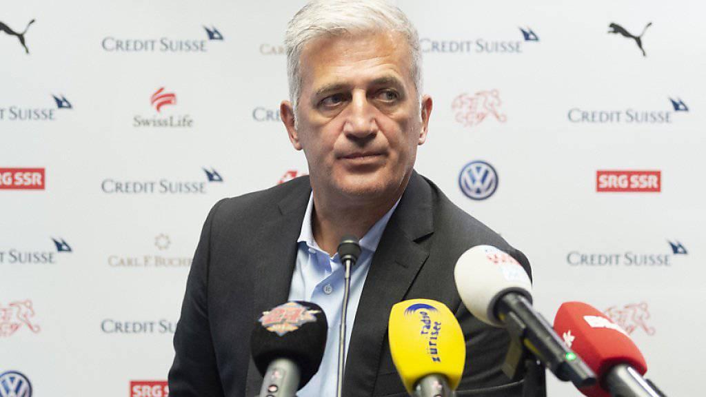 Nationaltrainer Vladimir Petkovic zog am Montag nach der Rückkehr vom Finalturnier der Nations League in Porto Bilanz