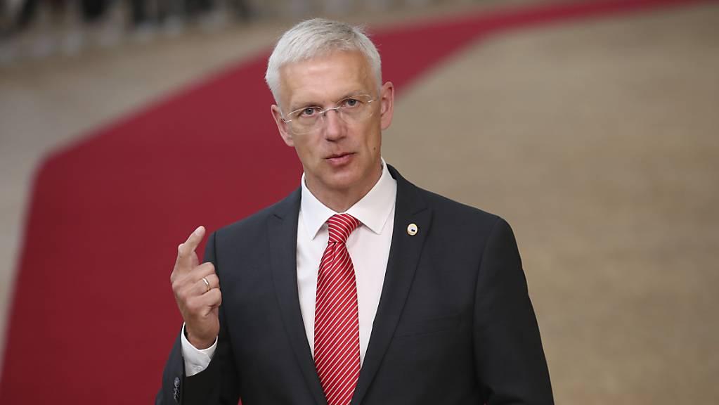 Lettlands Regierungschef Krisjanis Karins. Foto: Francisco Seco/AP Pool/dpa