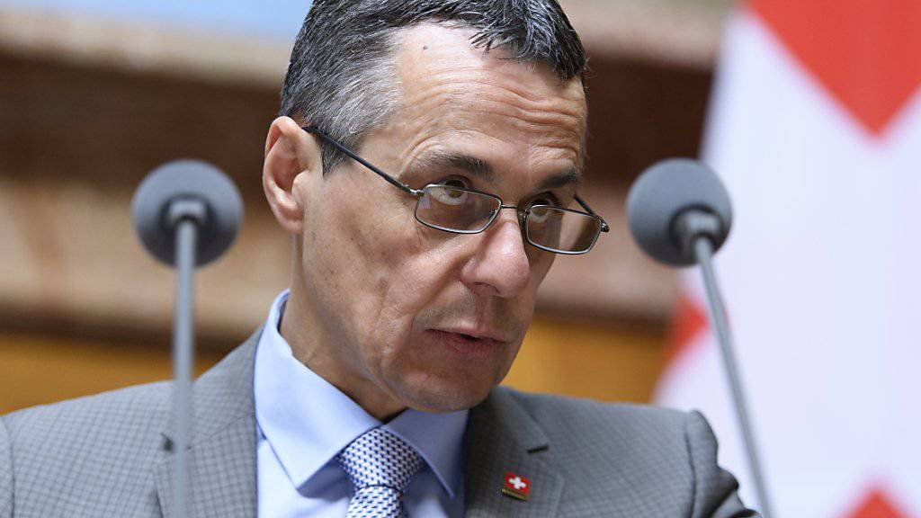 Was Bundesrat Ignazio Cassis im März zu den flankierenden Massnahmen gesagt hat, soll auch weiterhin gelten: «Der Bundesrat hat diese roten Linien bestätigt.» (Archiv)
