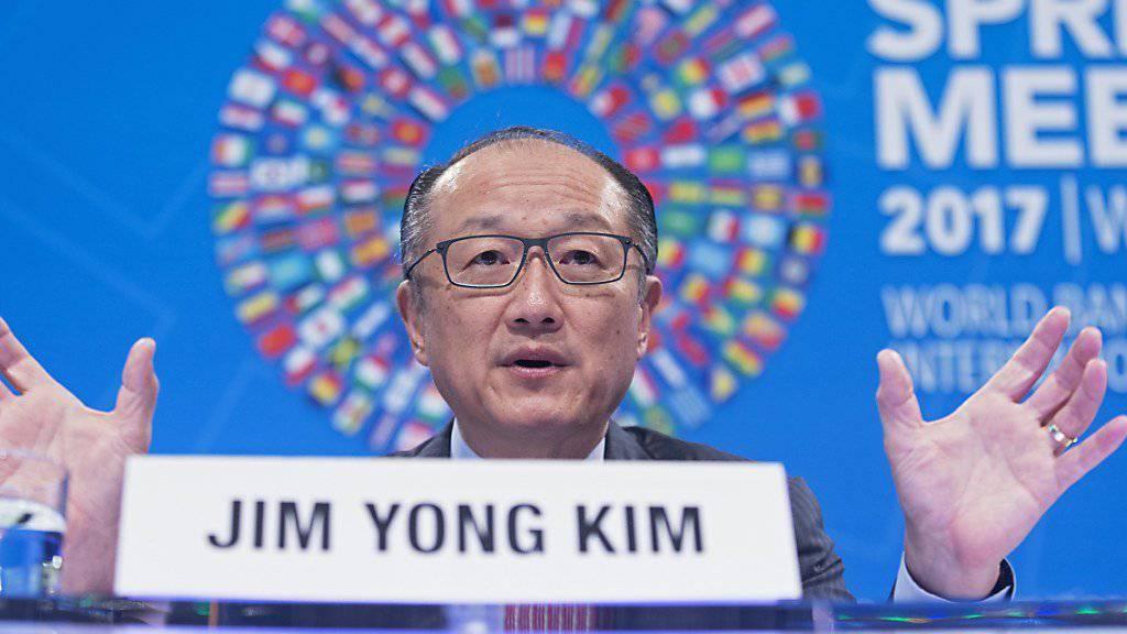 """Dass Industriestaaten genug Entwicklungshilfe leisten, ist laut Weltbank-Präsident Jim Yong Kim """"nicht im Interesse einzelner Länder, sondern im Interesse der Welt."""""""