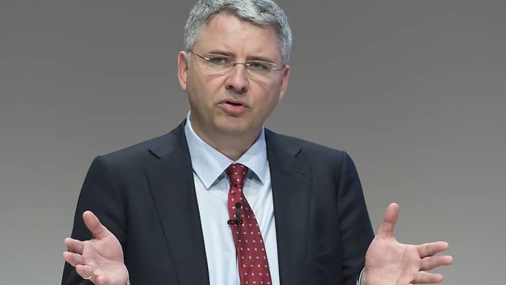 """Roche-CEO Severin Schwan: """"Die Divisionen Pharma und Diagnostics konnten ihre Verkäufe dank der Einführung neuer Produkte weiter steigern, und auch unsere Produkte-Pipeline entwickelt sich sehr gut."""""""