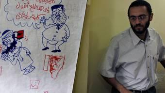 Eine ägyptische Zeitung antwortet auf die französischen Mohammed-Zeichnungen mit eigenen Cartoons.