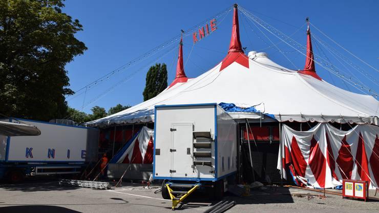 Der Nationalzirkus Knie bleibt heuer in Olten aussen vor: Die Schützenmatte ist für das neue Zelt zu eng.