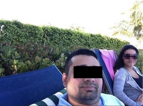 Derek mit seiner Frau
