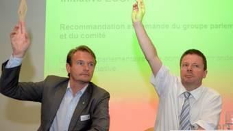 GLP-Präsident Martin Bäumle (rechts) und Vize Laurent Seydoux