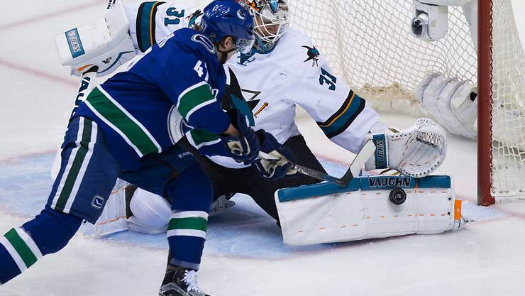 Sven Bärtschi sucht gegen die San Jose Sharks den Abschluss