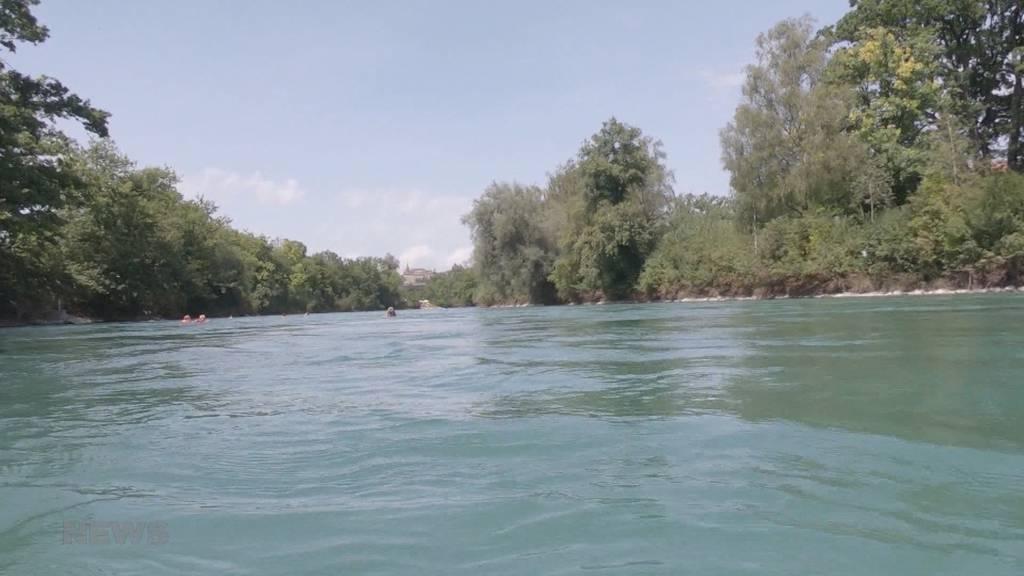 Die Berner Aare ist wieder bebadbar: Nach dem Hochwasser sind alle Gewässer wieder freigegeben