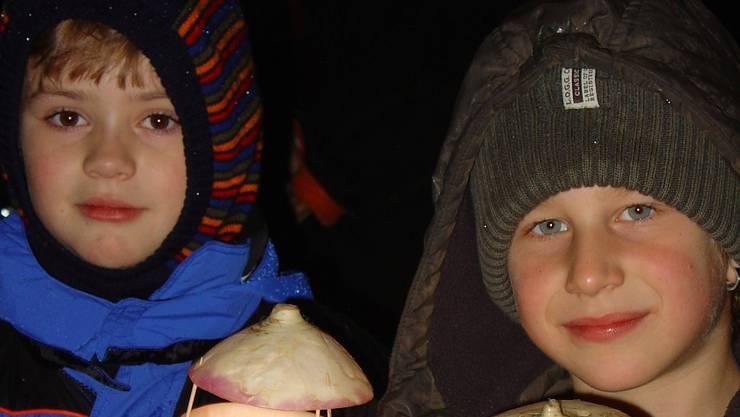 Am Freitagabend versammelten sich die Kinder zum Umzug durch Aesch.