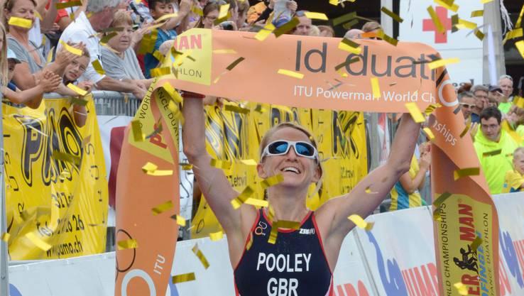 Emma Pooley holte ihren dritten WM-Titel.