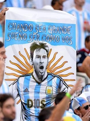 Nach Maradona: Messi ist der neue Nationalheld Argentiniens.key